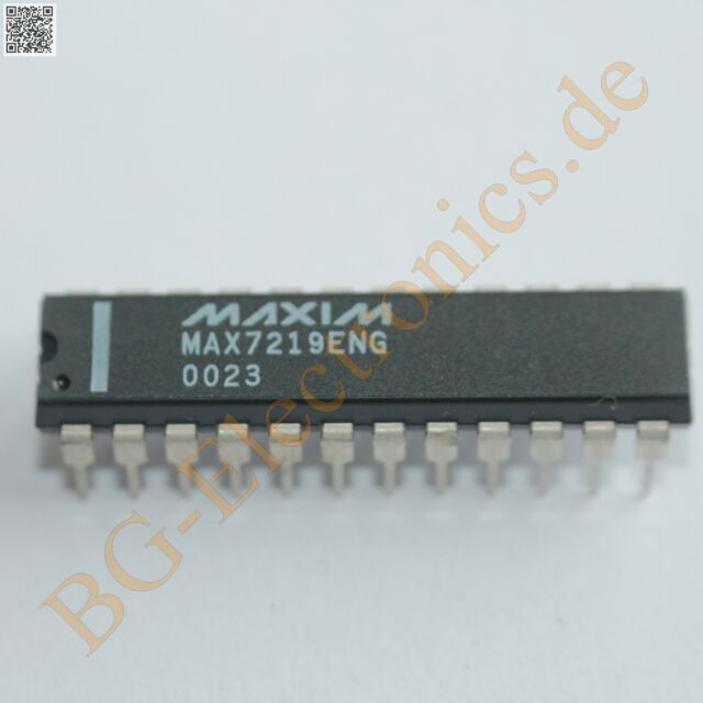 1 x MAX7219ENG Serially Interfaced, 8-Digit LED Display Dri Maxim DIP-24 1pcs