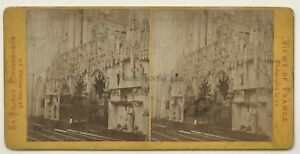 Troyes Il Tribuna ad Archi Da La Madeleine Cattedrale Francia Foto Vintage -