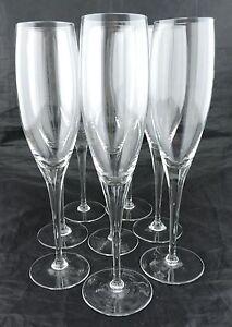 VINTAGE-CHAMPAGNE-FLUTE-SET-8-034-DANISH-DESIGN-034-CZECHOSLOVAKIA-STEMWARE-GLASSWARE