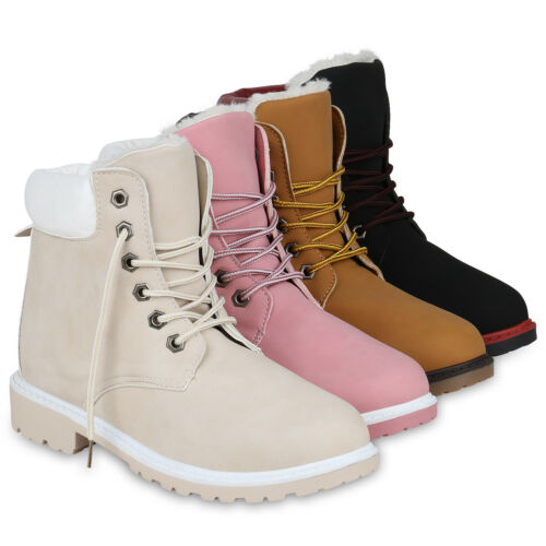 Warm Gefütterte Damen Stiefeletten Outdoor Worker Boots Bequem 818981 Schuhe