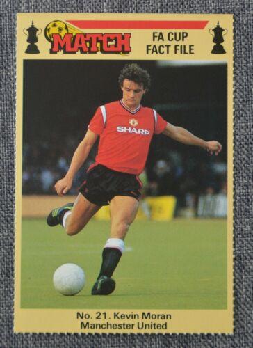 Archivo de FA Cup hecho coincidir con 1986; Kevin Moran-Manchester United no 21