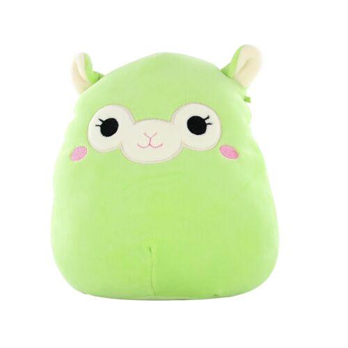 """Squishmallow Plush The Alpaca Green Alpaca Color Soft Pillow 8/"""" New"""