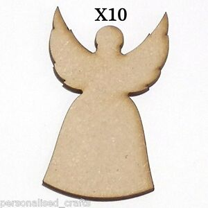 image is loading x10 wooden mdf 80mm christmas angel wings decorations