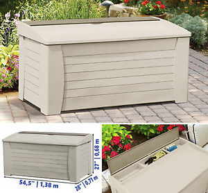 Image Is Loading Deck Storage Box Outdoor Patio Garage Shed Backyard