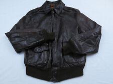 Vtg Mens Avirex Leather Army Military Bomber Flight Aviator Jacket Coat Sz 40