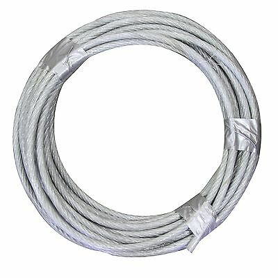 """1//4-5//16/"""" X 500/' Vinyl Coated Aircraft Cable 7X19 Control Wire Rope Galvanized"""