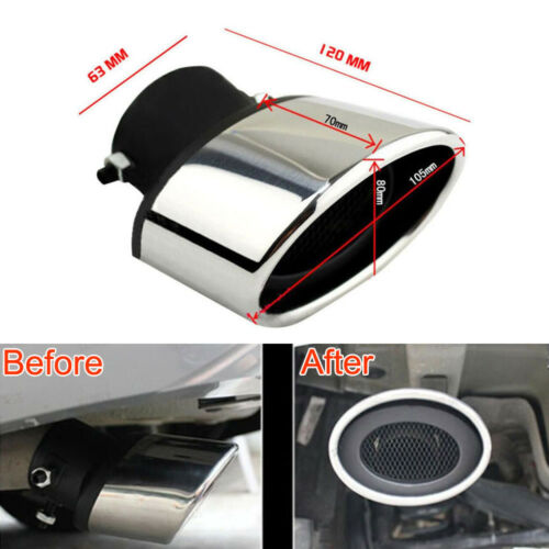 2 Pcs Stainless Steel Tail Exhaust Pipe Tip Muffler Tailpipe For Mazda 6 03-08