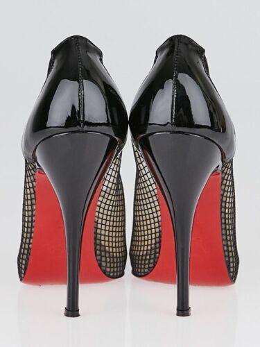 Louboutin Motif Fetilo Noir 40 Neuf Chaussures Plates Christian Résille 120 Iqw5EWn7UH