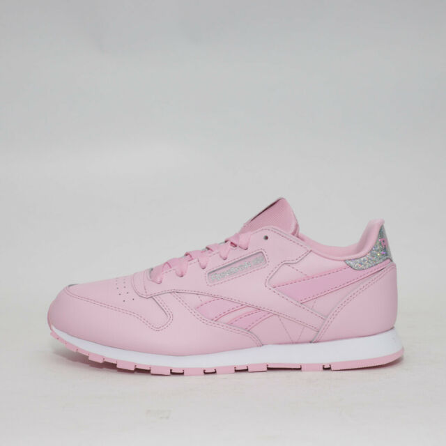 Womens Reebok Classic Leather Pastel PinkSilver Trainers (TGF26) RRP: £42.99