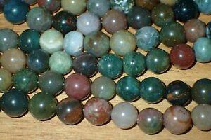 100 old stock Natural Jasper Beads, 7.5-8mm, Lot #26