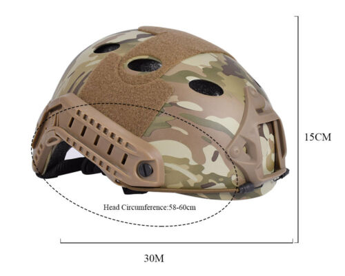 Emerson Tactical Fast Helmet PJ Type Bump Jump Helmet w// NVG Shroud Side Rail