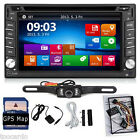 """6.2"""" In Dash Stereo Car DVD Player Double Din Bluetooth GPS iPod SD Free Camera"""