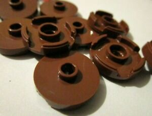 LEGO NEW 2x2 Reddish Brown Round Tile Stud 10x 6102360 Brick 18674