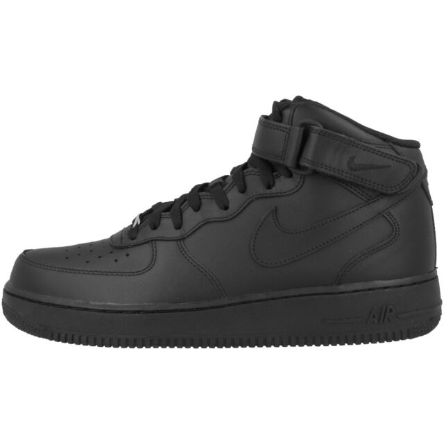 9a519223c11 Nike Air Force 1 07 Mid Zapatos Negros 315123-001 Dunk