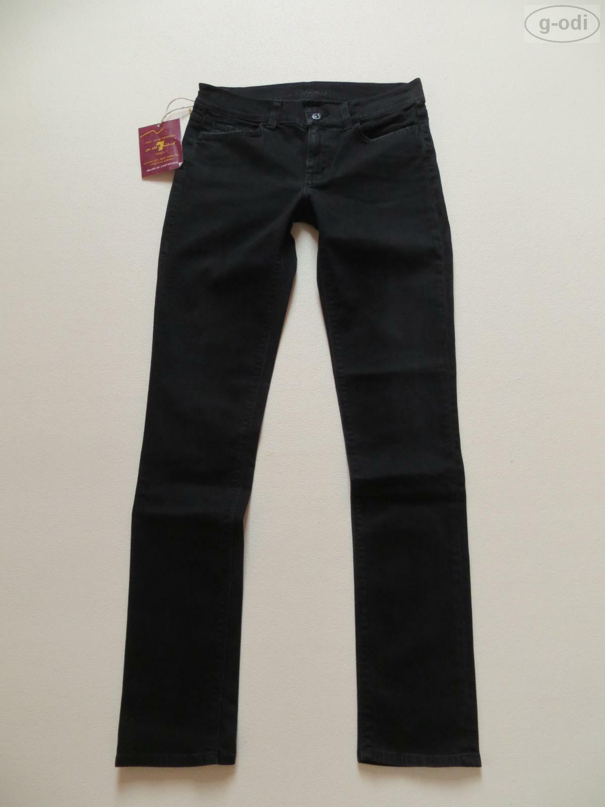 7 For All Mankind Skinny Jeans Hose W 28  L 32 black NEU   Denim MADE IN USA