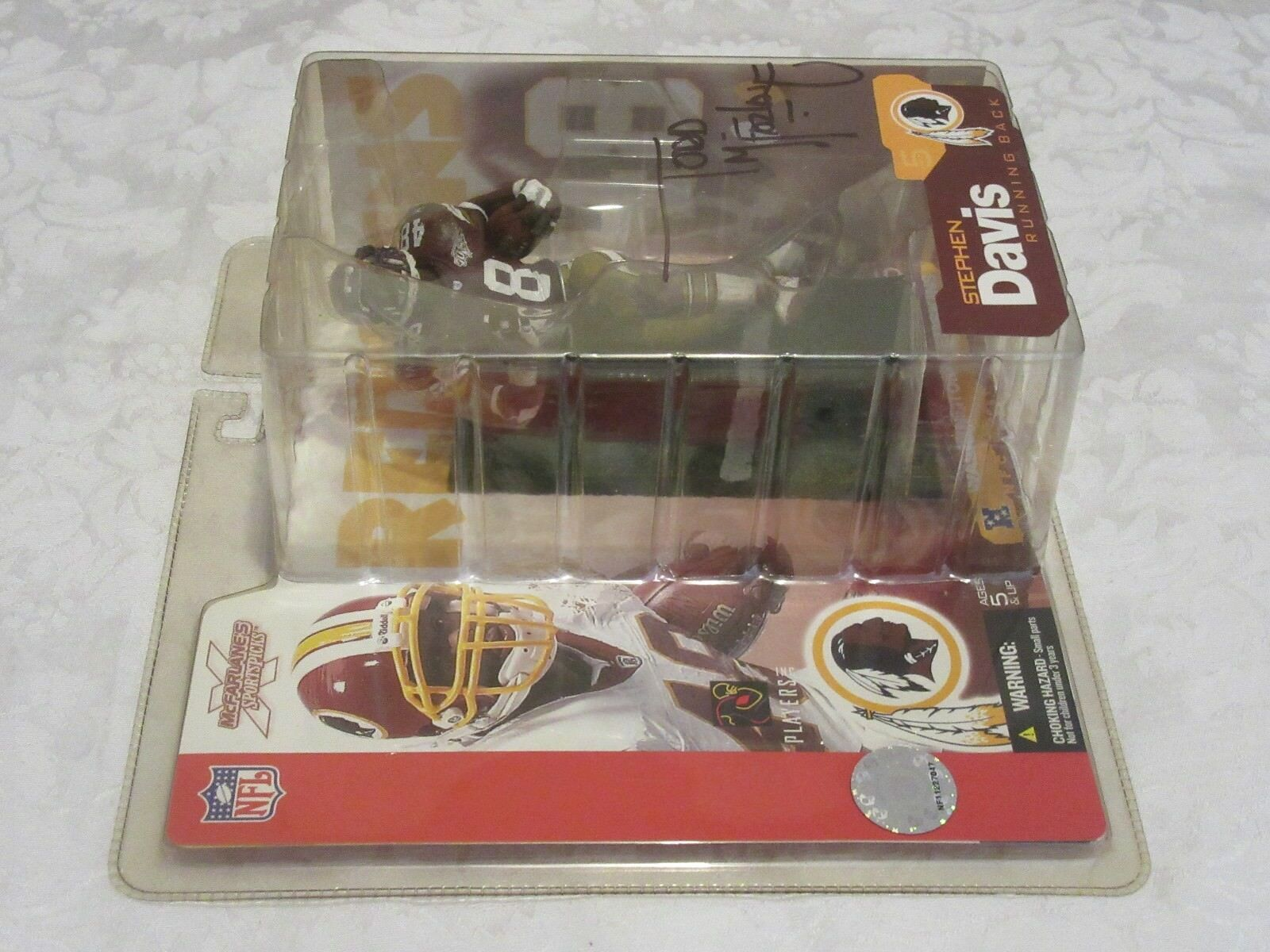 McFarlane NFL Series 5 Stephen Davis Chase Chase Chase Variant Dark Red Signed Todd Figure a3b87f