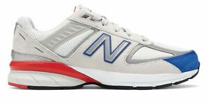 New-Balance-Kid-039-s-990v5-Little-Kids-Male-Shoes-Grey-with-Blue