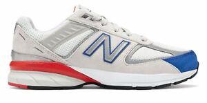 New-Balance-enfant-990V5-LITTLE-KIDS-male-Chaussures-Gris-Avec-Bleu
