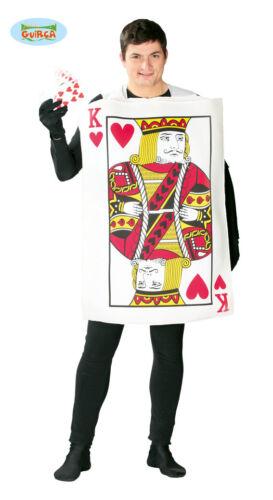 M//L Kostüm für Herren Karneval Fasching Herz Gr König der Herzen Spielkarte