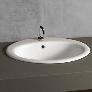 Ceramiche Arredo Bagno Moderno.Dettagli Su Lavabo Da Incasso Soprapiano 50 X 45 Cm In Ceramica Arredo Bagno Moderno