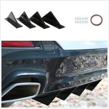 4pcs Black Triangle Mini Rear Spoiler Kits Fit For Car Rear Body Bumper Lower Fits Saturn Aura