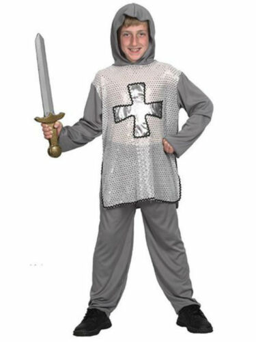 #Grey #Medieval Knight Boys Fancy Dress Medieval /& Gothic Costume New 3 Sizes