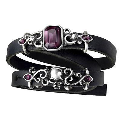 Alchemy Gothic Pirate Princess Leather Strap Bracelet - Alternative Bangle