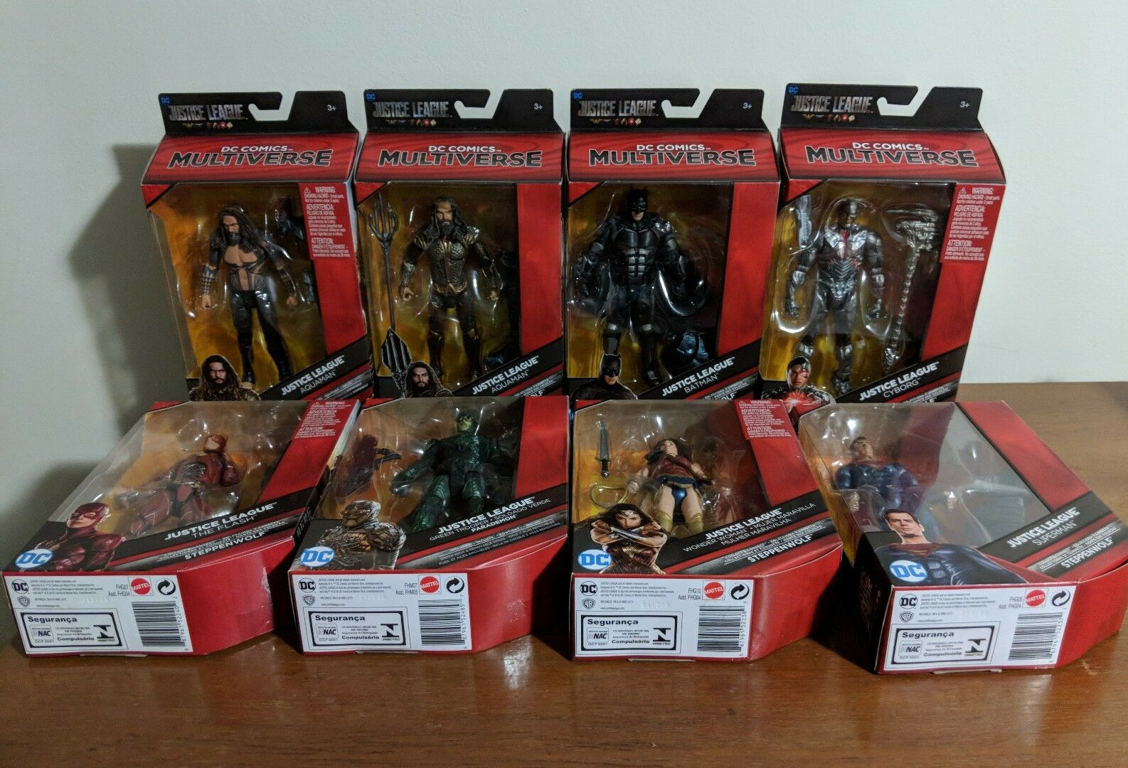 DC Multiverse Justice League Movie COMPLETE 8-FIGURE SET Steppenwolf