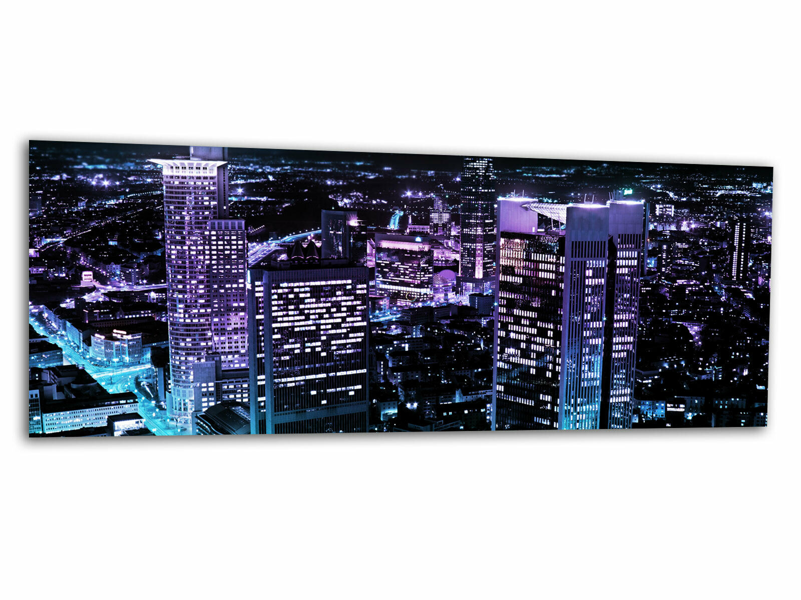 Verre-image LA FRESQUE Frankfurt City III ag-00937 125 x 50 cm