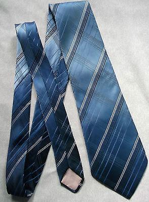 Vintage Cravatta Dunn & Co Da Uomo Cravatta Retro Fashion Blu Navy A Righe Controllato-mostra Il Titolo Originale Saldi Di Fine Anno