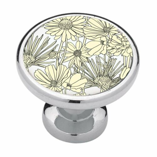 Kitchen Decor Bathroom Dec Drawer Pulls Yellow Antique Floral Cabinet Knobs