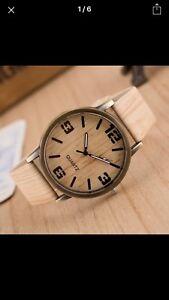 Venditore-del-Regno-Unito-nuovo-look-alla-moda-in-legno-Orologio-Uomo-Donna-Unisex-Orologio-da-polso