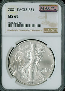 1986-S SILVER EAGLE NGC MAC PF-69 UHCAM 2nd FINEST GRADE SPOTLESS  .