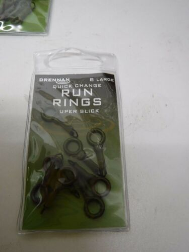 drennan run rings small//med//large  big barbel anglers