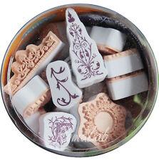 48 TIMBRI IN GOMMA aladine STAMP arabeschi lettere capilettera SET SCRAPBOOKING