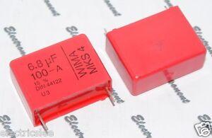 2pcs-WIMA-MKS4-6-8uF-6-8-F-6-8uF-100V-10-Pich-27-5mm-Kondensator