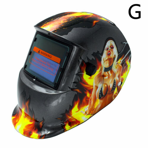 Solar Powered Auto Darkening Welding Helmet Arc Tig Mig Grinding Welder Mask BR
