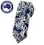 Men/'s Skinny Tie Silver Dark Blue Pattern Paisley 6CM Slim Thin Necktie Wedding