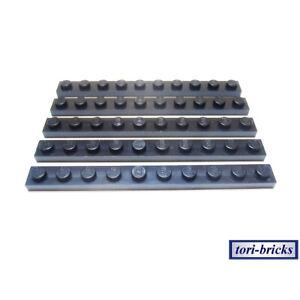 Lego 10 x Platte Bauplatte flach 4477 schwarz  1x10