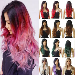 2 Tones Synthetic Full Wigs Ombre Wavy Dark Roots Heat Resistant Fiber Hair Wig - Essex, Southend-On-Sea, United Kingdom - 2 Tones Synthetic Full Wigs Ombre Wavy Dark Roots Heat Resistant Fiber Hair Wig - Essex, Southend-On-Sea, United Kingdom