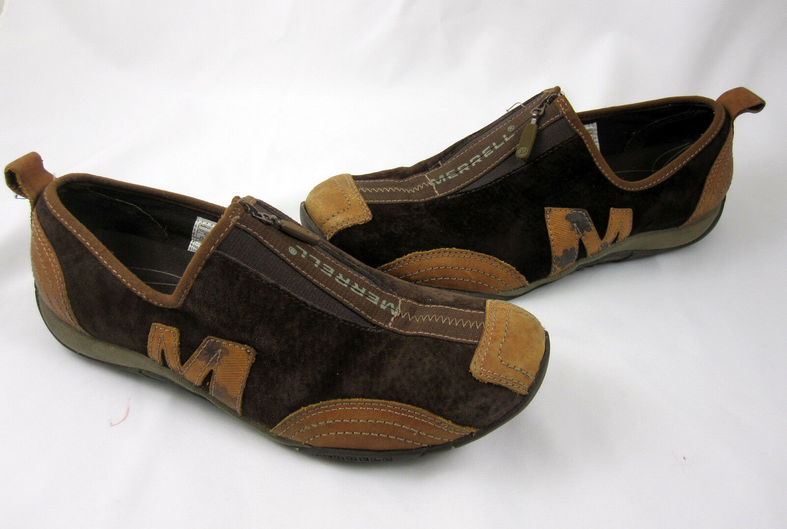 Merrell Performance Size 7.5 shoes Barrado Coffee Bean Suede Brown Leather