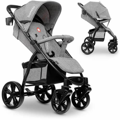 Lionelo ANNET grau Kinderwagen Baby Buggy aus 100/% Leinen Gummireifen Fußsack