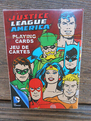 JUSTICE LEAGUE playing cards brand new sealed DC Comics