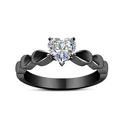 NEW Fashion jewelry 14kt black gold filled White CZ Wedding Ring Sz 6-10