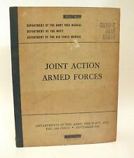 INCREDIBLE Vintage 1951 Joint Armed Forces Army, Navy, Air Force Book Packet