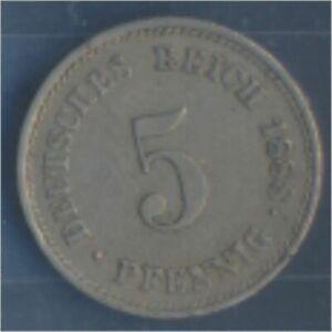 German-Empire-Jagerno-3-1888-J-ext-fine-Copper-Nickel-1888-5-Pfennig-7849152