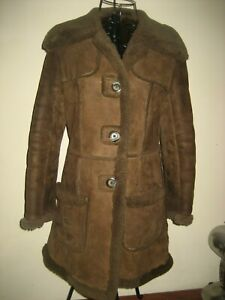 A-WOMENS-SUEDE-amp-LEATHER-CRAFT-LTD-COAT-SIZE-12-PIT-PIT-APPROX-18-034-LENGTH-32-in