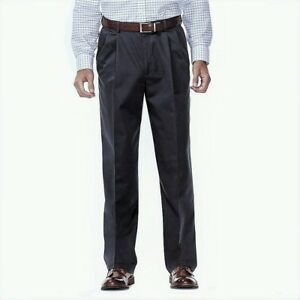 Men-039-s-Haggar-Work-To-Weekend-No-Iron-Classic-Pleated-Pants-Style-41114957524-NWT