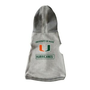 Miami-Hurricanes-NCAA-Little-Earth-Production-Dog-Pet-Crewneck-Gray-Hoodie