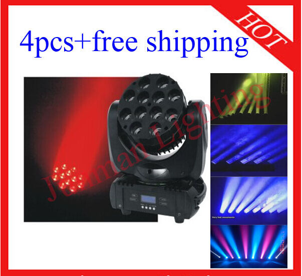 1210W RGBW 4 in 1 LED Beam Moving Head Light DJ Stage Light 4pcs Free Shipping